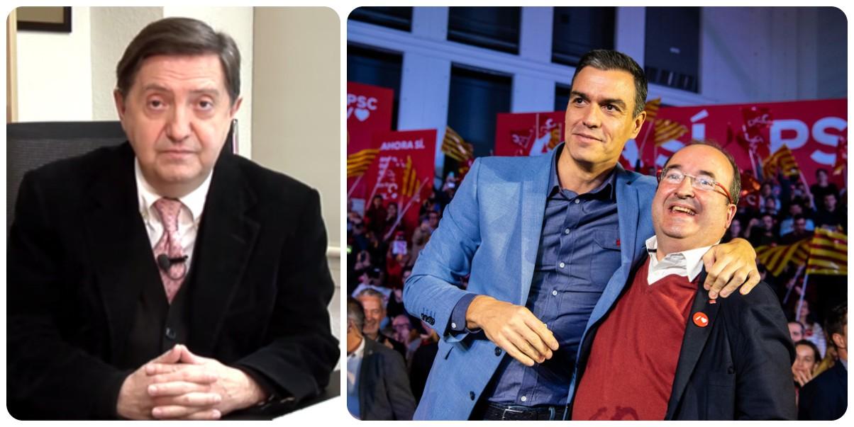 """Losantos: """"Sánchez e Iceta hacen el duduá del amor plurinacional mientras cocinan para ERC un referéndum racista y xenófobo"""""""