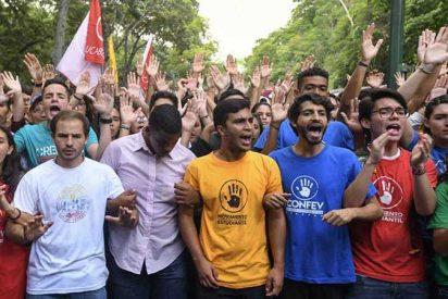 Los estudiantes de Venezuela piden a España su apoyo en la manifestación de 20 días contra la dictadura de Maduro