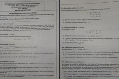 Este es el feroz examen de matemáticas que ha hecho 'llorar' a los estudiantes de la EvAU de Madrid