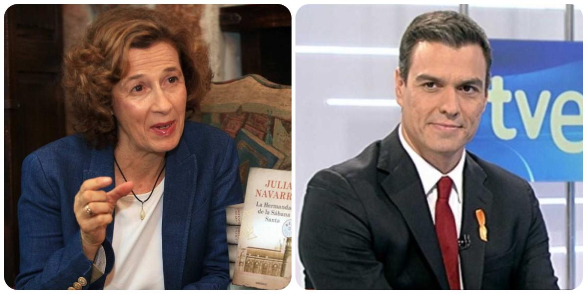 """La novelista Julia Navarro alza también su voz contra la sanchista TVE: """"Dan ganas de llorar"""""""