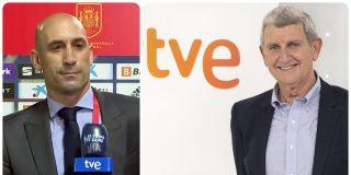Rubiales saca tarjeta roja a TVE por cambiar de La 1 a Teledeporte el partido de la Selección Española