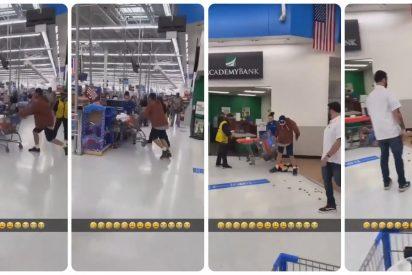 Un trabajador de Walmart responde con un KO brutal a la agresión de un cliente