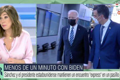 Réquiem por el periodismo español: Ana Rosa sacude a la prensa que compró que lo de Sánchez y Biden sería una reunión