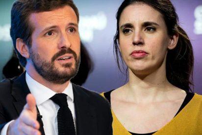 """Pablo Casado desquicia a Irene Montero por recordarle que llegó al Gobierno por """"ser mujer de un vicepresidente"""""""