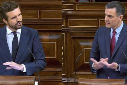 """Casado acusa a Sánchez en el Congreso: """"Está impulsando un cambio de régimen"""""""