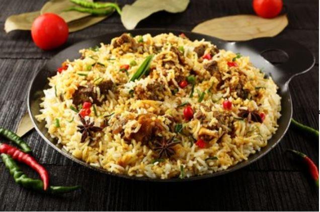 Cordero Biryani, receta india