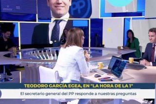"La imperdonable metedura de pata de Mónica López (TVE) con García Egea (PP): ""Empezamos regular"""