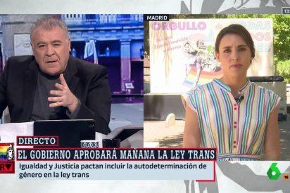 Ferreras aviva su guerra personal contra Podemos: 'Torpedea' a Cintora en directo y a la cara de Irene Montero
