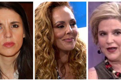 Propaganda terrorífica en la nueva entrevista a Rocío Carrasco con Irene Montero y Pilar Rahola haciendo populismo