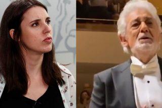 Irene Montero se pilla un cabreo de mil demonios por la ovación a Plácido Domingo y Twitter le da la puntilla