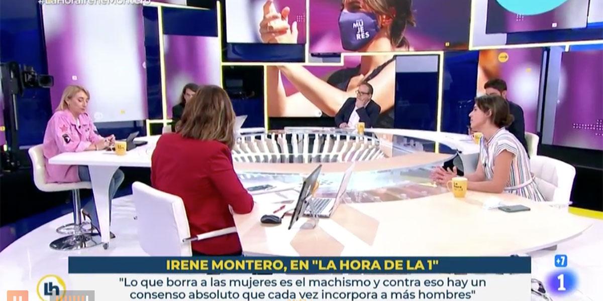 """Mónica López (TVE) se compincha con Irene Montero contra la tertuliana que no traga con el """"hijes"""" y """"todes"""""""