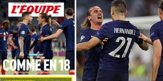 """L' Equipe la lía por un confuso titular que evoca a la Primera Guerra Mundial: """"Como en el 18"""""""