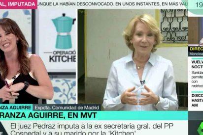 """Esperanza Aguirre exige a Mamen Mendizábal que la respete: """"Tiene la costumbre de no dejar hablar al entrevistado"""""""