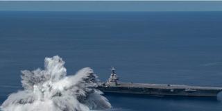 EEUU pone a prueba su nuevo portaviones con explosiones tan potentes como un sismo