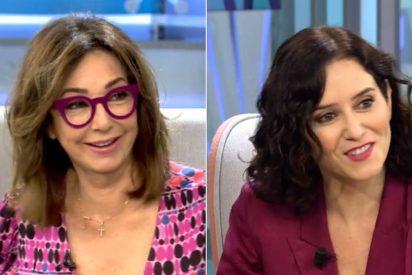 """Ana Rosa Quintana deja en shock a Díaz Ayuso: """"Presidenta, yo tengo tres hijos, póngase a ello"""""""