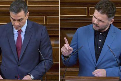 """Rufián humilla a Sánchez: """"Dice que no habrá referéndum, pero dijo lo mismo de los indultos, así que denos tiempo"""""""