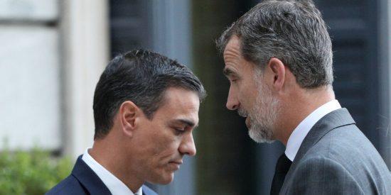 Golpe a Sánchez: Zarzuela estudia el artículo 62 de la Constitución para que el Rey no firme los indultos