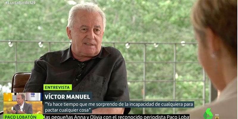 """El cantante Víctor Manuel llama """"bocazas"""" a Pablo Iglesias y la militancia de Podemos le coloca entre los """"fachas"""""""