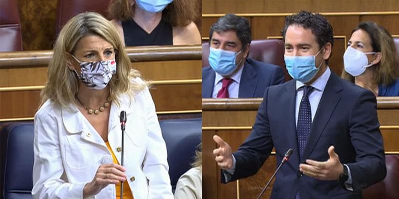 """García Egea, a Yolanda Díaz: """"Tienes menos entusiasmo que Lilith Verstrynge haciendo mítines"""""""