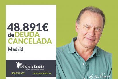Repara tu Deuda Abogados cancela 48.891€ en Madrid con la Ley de la Segunda Oportunidad