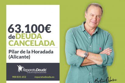 Repara tu Deuda cancela 63.100€ en Pilar de la Horadada (Alicante) con la Ley de Segunda Oportunidad
