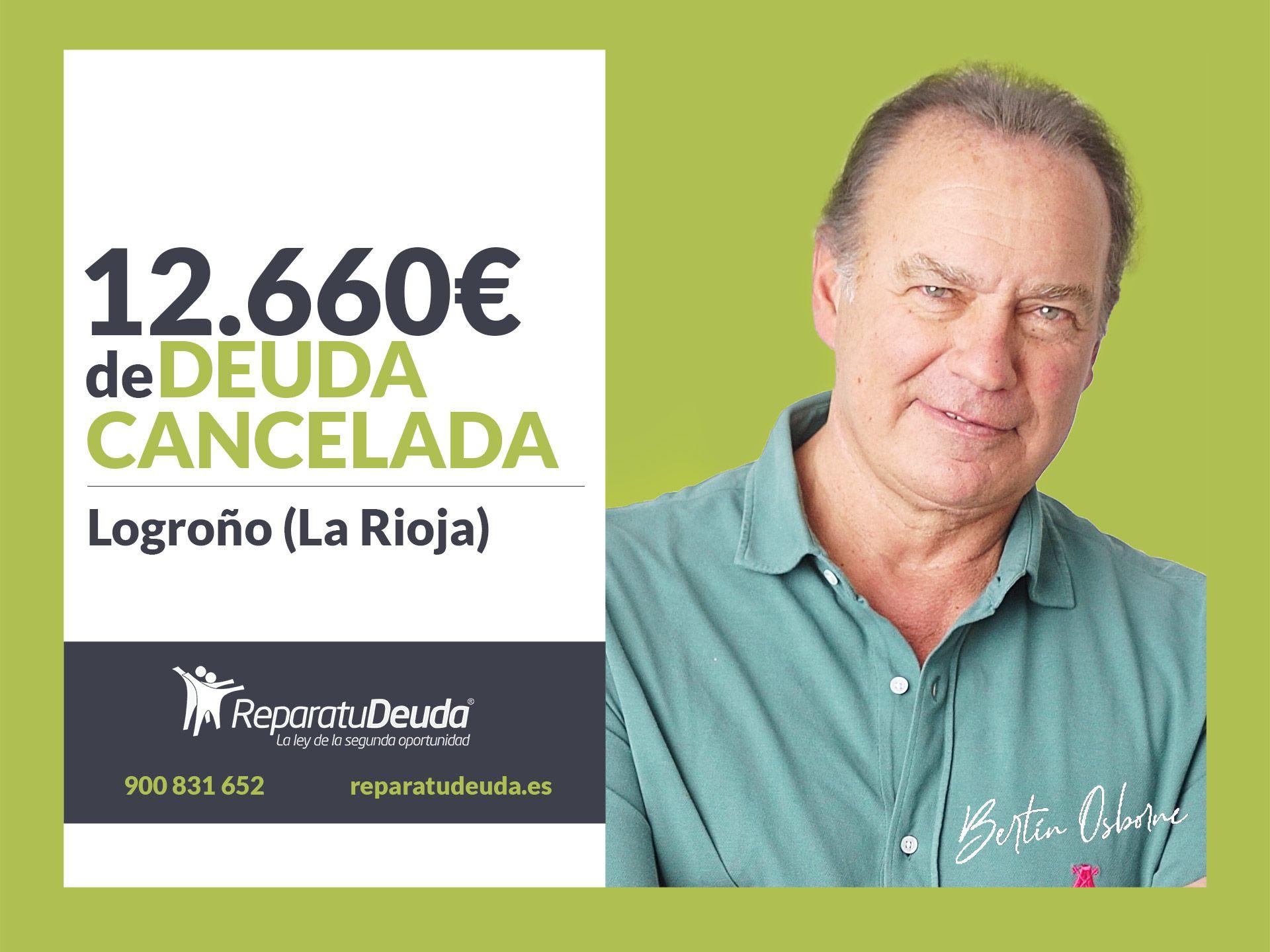 Repara tu Deuda cancela 12.660 € en Logroño (La Rioja) con la Ley de la Segunda Oportunidad