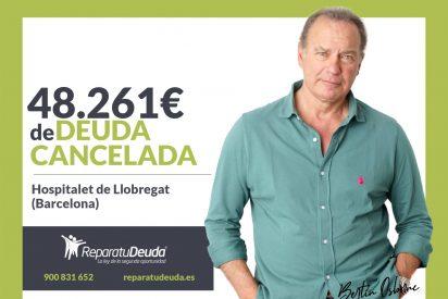 Repara tu Deuda cancela 48.261€ en L'Hospitalet de Llobregat (Barcelona) con la Ley de Segunda Oportunidad