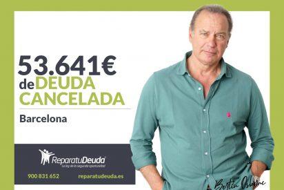 Repara tu Deuda abogados cancela 53.641 € en Barcelona (Catalunya) con la Ley de Segunda Oportunidad