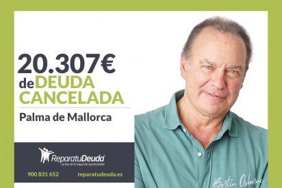 Repara tu Deuda cancela 20.307 € en Palma de Mallorca (Baleares) con la Ley de Segunda Oportunidad