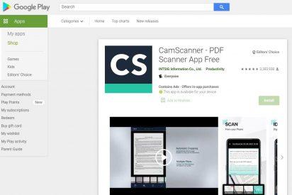 CamScanner aclara que no está infectado con el software espía Joker