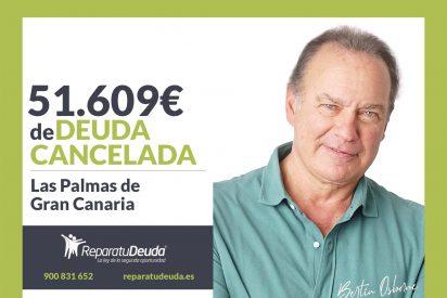 Repara tu Deuda abogados cancela 51.609€ en Las Palmas de Gran Canaria con la Ley de Segunda Oportunidad