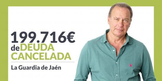 Repara tu Deuda cancela 199.716 € en La Guardia de Jaén (Andalucía) con la Ley de la Segunda Oportunidad