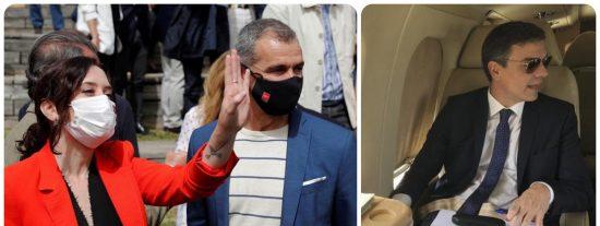 """Ayuso sopapea a la izquierda por acusarla de derrochar con la oficina de Cantó: """"¿Y los 23 ministerios y el Falcon de Sánchez?"""""""