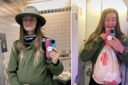 Una tiktoker finge estar embarazada para llevar su equipaje gratis