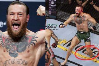 UFC: el escalofriante instante en que McGregor se parte la pierna peleando contra Poirier