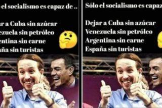 Solo el socialismo es capaz de dejar Cuba sin azúcar, Venezuela sin petróleo, Argentina sin carne y España sin turistas