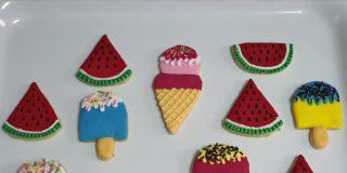 Receta: galletas veraniegas de sandía y helado