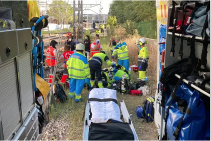 Una mujer es brutalmente golpeada por un tren cerca de Coslada Central