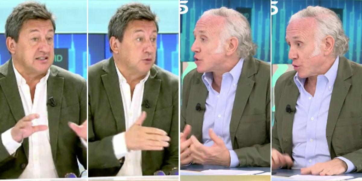 """Inda pulveriza al tertuliano progre en Telecinco: """"¡Los de El País os creéis que meáis colonia!"""""""