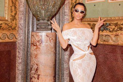 El 'pecador' look de Kim Kardashian en su visita al Vaticano