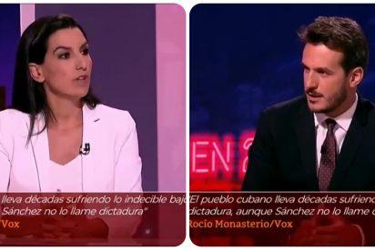 """Monasterio deja KO a Losada (TVE) cuando este pregunta si el franquismo fue una dictadura: """"Sí y el castrismo, también"""""""