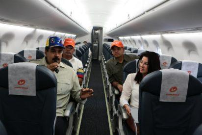 El dictador Maduro manda su avión presidencial a La Habana