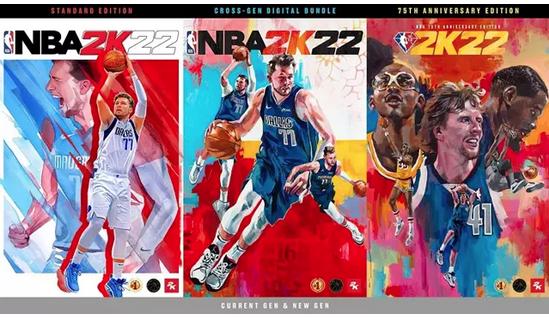 Las portadas de la NBA 2K22 tendrán de protagonistas a Luka Doncic, Kareem Abdul-Jabbar, Dirk Nowitzki y Kevin Durant
