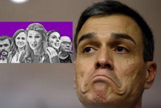 El doble fracaso de Sánchez: risas en los intocables de Podemos y cabreo sordo en los sumisos del PSOE