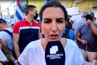 Cubanos y españoles protestan ante la embajada castrista en Madrid