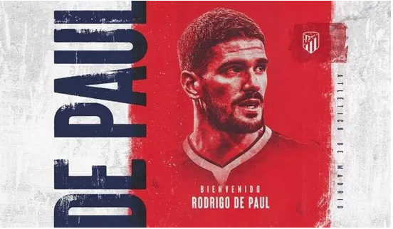 El Atlético ficha al argentino Rodrigo de Paul por cinco temporadas