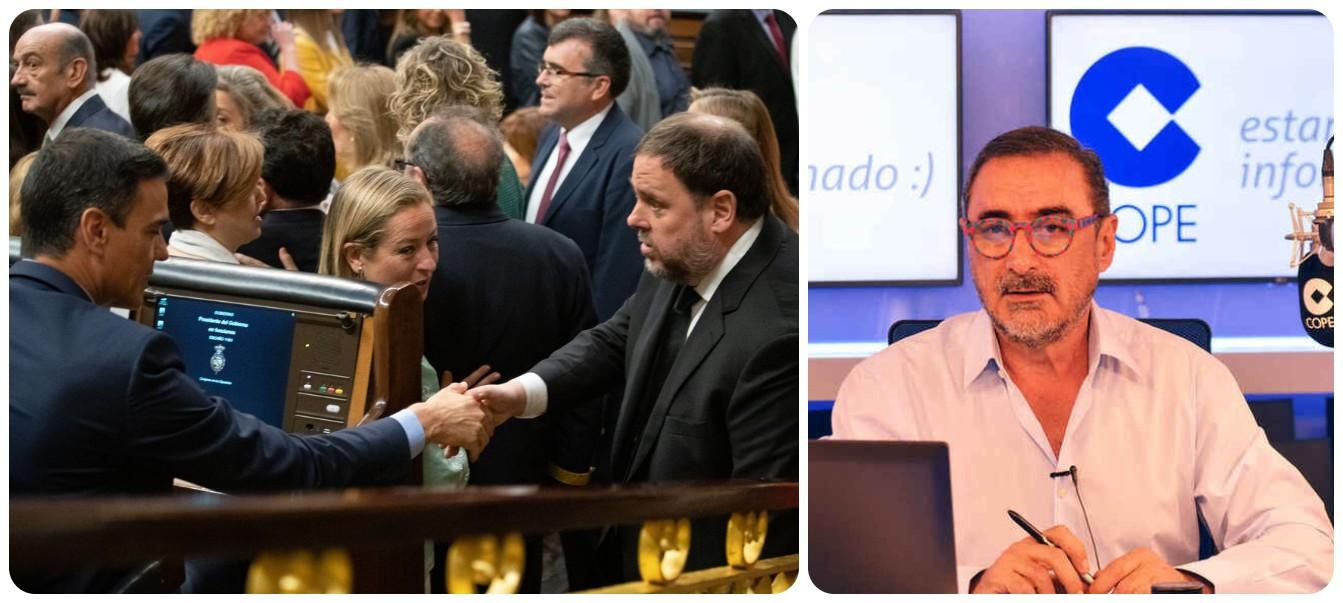 Herrera radiografía los planes de Sánchez para que a Junqueras le quiten la inhabilitación política