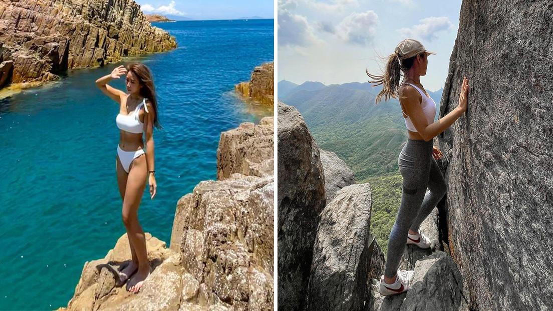 Sofía Cheung, la estrella de Instagram que posaba al borde de precipicios, muere al caer por una cascada
