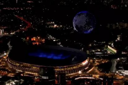 El espectacular planeta Tierra creado con más de 1.800 drones en Tokio