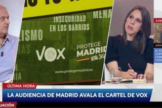 """Un tertuliano de Cintora ataca a la Justicia por avalar el cartel de VOX: """"Luego persiguen los lazos amarillos"""""""